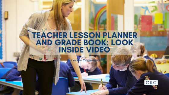 Teacher Lesson Plan and Grade Book Video