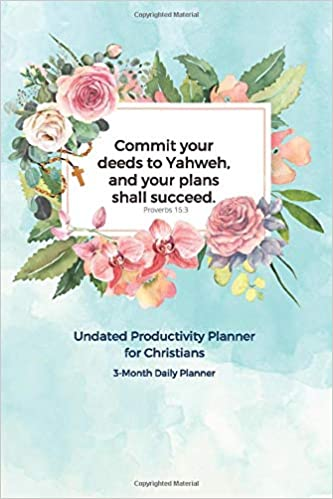 undated 12-week planner